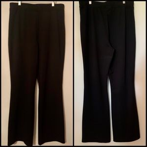Denim 24/7 Black Knit Dress Pants Size 18 Tall